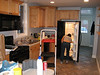 The kitchen and Tomoko's butt.