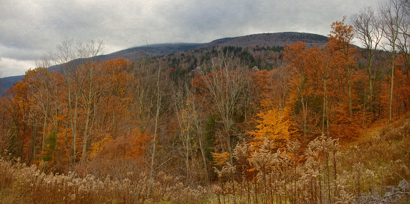 Hudson Valley Landscapes: Catskill Mountain Panorama, Autumn, Ulster County, Upstate New York