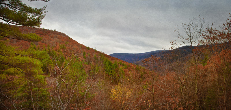 Hudson Valley Landscapes: Panorama of the Catskill Mountains, Autumn, Ulster County, Upstate New York
