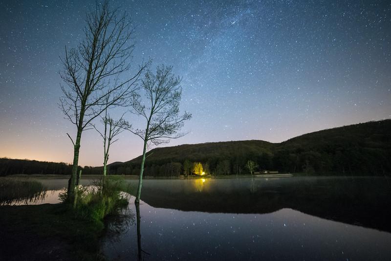 Nighttime at Rudd Pond