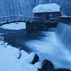 Dard Hunter Mill at the site of the historic Gomez Mill House in Marlboro, during a brief lull in an intense snowstorm.