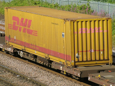 DHL KDG1 container number 5202 - Middlesbrough, 30th July 2009