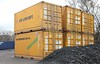 "Stack of unusual 20' palletwide boxes. CSFU126720-0, CSFU126797-7 are 2CG1, 20' x 8'6"" x 2.5m wide - CSFU126156-2, CSFU126226-0, CSFU126437-1 and CSFU126440-6 are 2DG1, 20' x 9' x 2.5m wide.  Tom Smith image used with permission."