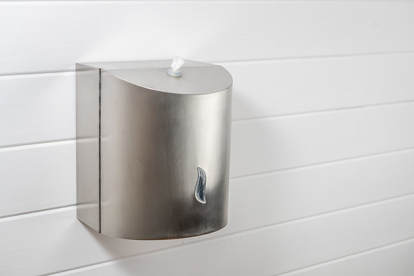 Brushed Stainless Steel Wall mounted Dispenser