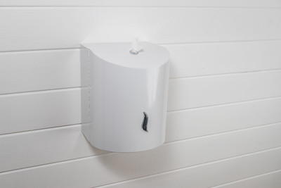 White Stainless Steel Wall mounted Dispenser