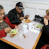 Ice Cream Factory in Townsend is one of the local seasonal eateries in the North Central MA region. ejoying some good food at the establishment on Friday at lunch time is from left Marcella Brathwaite and her husband Joe Brathwaite from Lancaster with Robin Egan from Fitchburg. SENTINEL & ENTERPRISE/JOHN LOVE