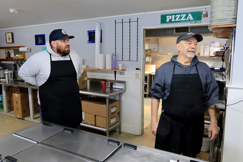 Ice Cream Factory in Townsend is one of the local seasonal eateries in the North Central MA region. Owner Paul Panagiotes, on left, and his uncle Tom Panagiotes talk about now being open this year. On Friday, March 22, 2019 was their second day open this year. SENTINEL & ENTERPRISE/JOHN LOVE