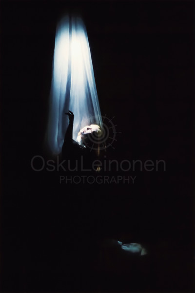 Reaching Light Through Darkness (Moving through Ink)