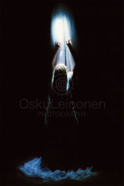 Reaching Light Through Darkness II (Moving through Ink)