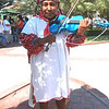 A Tarahumara Musician, In Traditional Clothing, From The City Of Chihuahua