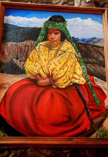 A Painting Of A Tarahumara Woman In A Hotel At The Copper Canyon
