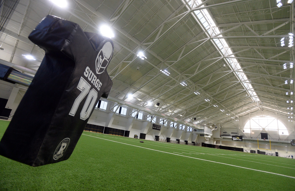 . The athletic facilities at the University of Colorado are nationally recognized for sustainability, such as the Indoor Practice Facility (IPF).  Cliff Grassmick  Photographer December 15, 2017