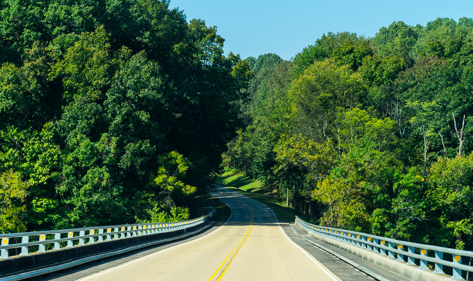 Natchez Trace Parkway, AL, MM 329 -- 9/21, 10:18 am River crossed, back into the trees...