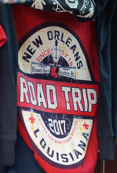 New Orleans, LA.  A very apropos t-shirt in a French Quarter store window.