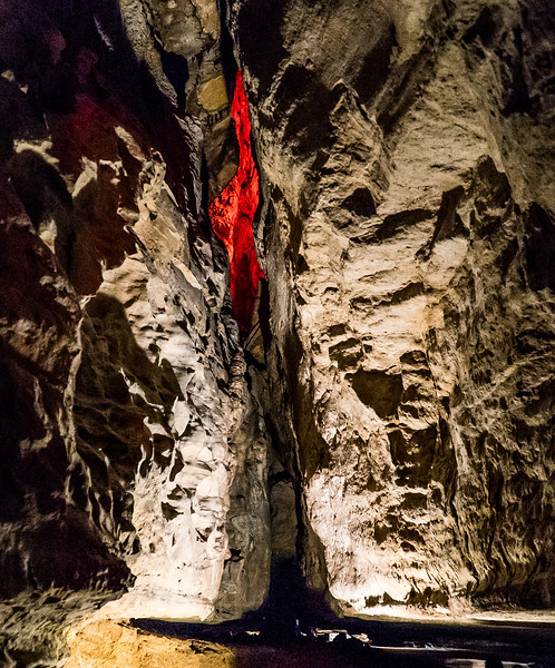 Ruby Falls, TN.   Looks kinda red in there.  Might be the Balrog.