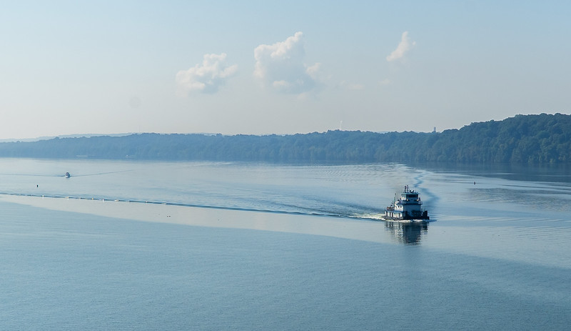 Natchez Trace Parkway, AL -- 9/21, 10:17 am The Tennessee River.  At 681 miles, it is twice as long as rivers half its length.