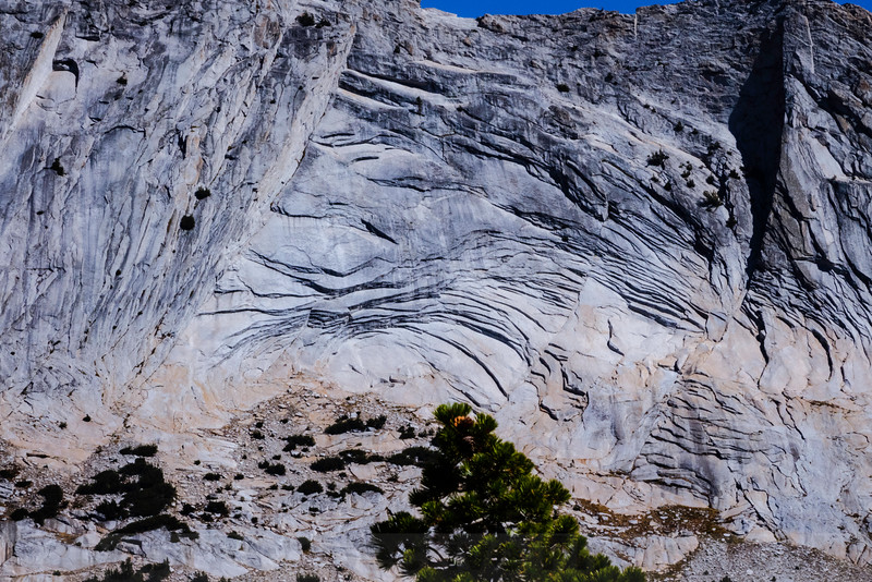 Granite exfoliation on the Matthes Crest