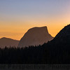 Unusual view of Half Dome at Twilight