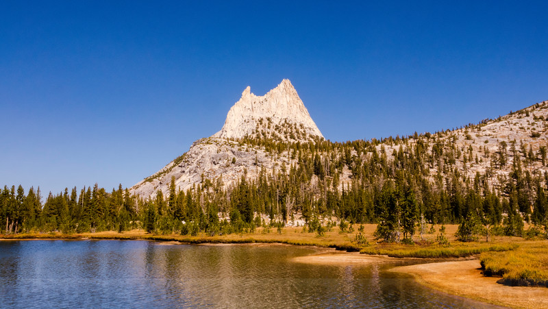 Upper Cathedral Lake and Cathedral Peak