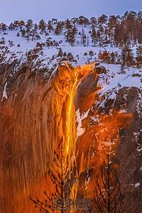 """Magma Illusion,"" Yosemite Firefall 2019, Horsetail Falls, Yosemite National Park, California"