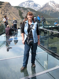 On the glass Skywalk, 900 feet to the bottom!