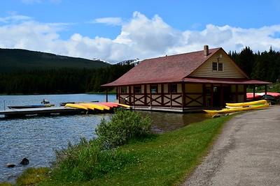 Boathouse on Maligne Lake
