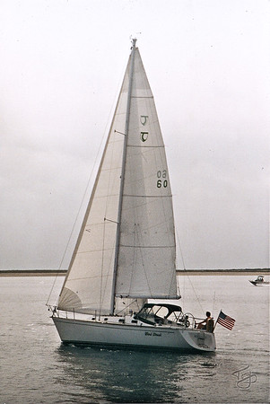 Sailboat - approaching Provincetown Harbor