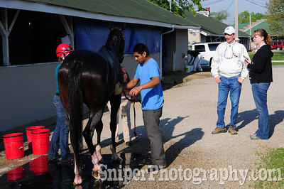 Louie J. Roussel III - Trainer for Recapturetheglory Backside - Churchill Downs