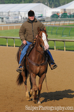 Bill Mott - Trainer Backside - Churchill Downs