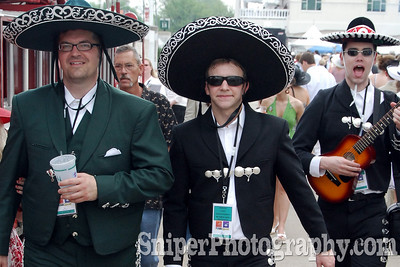 Folks love getting dressed up for Derby Day.