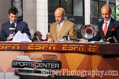ESPN Sportscenter was in town for the post draw.