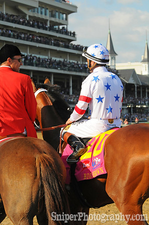 Big Brown seconds after winning the 134th Kentucky Derby.
