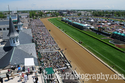 The view from the roof Derby day.