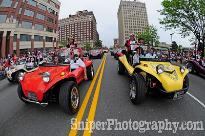 The Kosair Buggies take over Downtown during the Pegasus Parade.