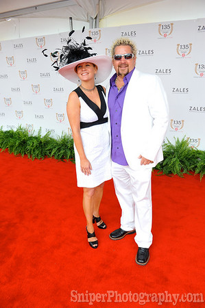 Guy Fieri walks the red carpet with his wife - Kentucky Derby 2009