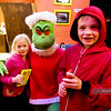 The Grinch at the Davis Varsity Theatre after the Davis Holiday Children's Parade
