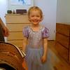 Una in a dress