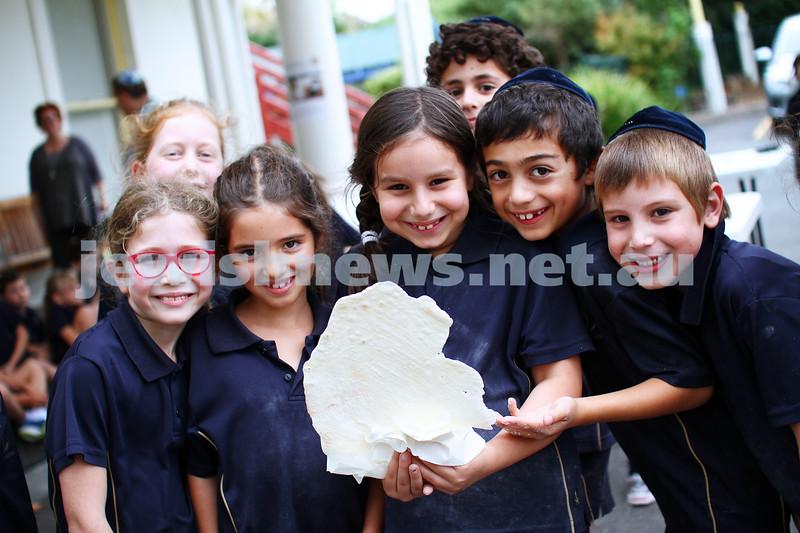 8-4-14. The King David School. Year 2 students making matza. Photo: Peter Haskin
