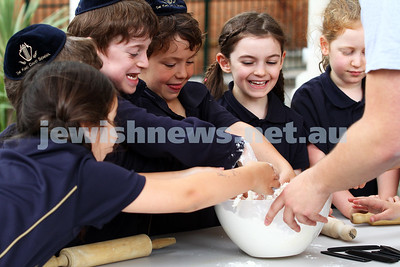 The King David School making matzah
