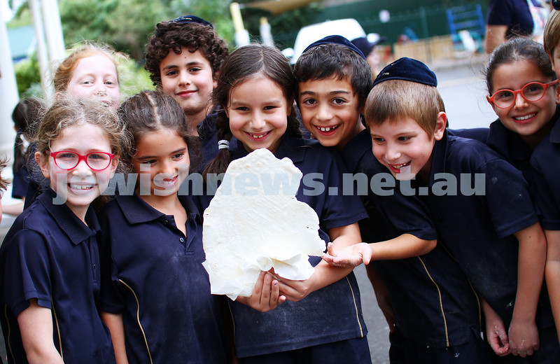 8-4-14. The King David School. Year 2 students making matza. Photo: Peter Haskin