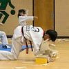 Reingold Elementary School in Fitchburg got a visit fromThe Korean National Taekwondo Demo Team who did some demonstration for the students on Tuesday, Oct. 8, 2019. Jeong Gun Lee  brakes some boards during their show. SENTINEL & ENTERPRISE/JOHN LOVE