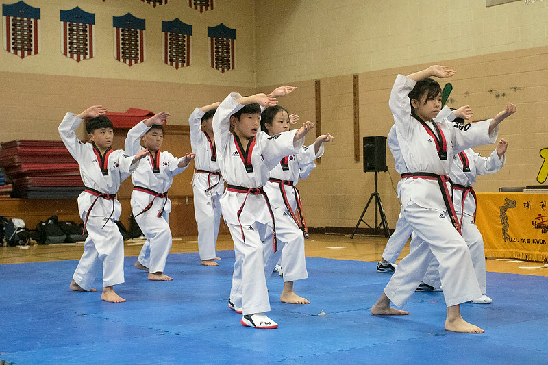 Reingold Elementary School in Fitchburg got a visit from The Korean National Taekwondo Demo Team who did some demonstration for the students on Tuesday, Oct. 8, 2019. SENTINEL & ENTERPRISE/JOHN LOVE