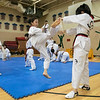 Reingold Elementary School in Fitchburg got a visit from The Korean National Taekwondo Demo Team  who did some demonstration for the students on Tuesday, Oct. 8, 2019. Lee Yeon Jae brakes a board during the show. SENTINEL & ENTERPRISE/JOHN LOVE
