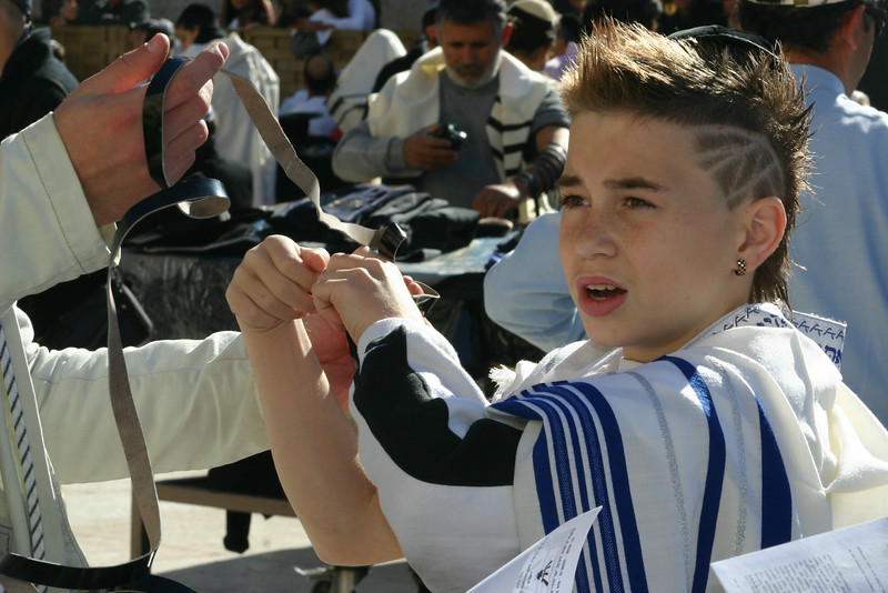 Boy at Kotel
