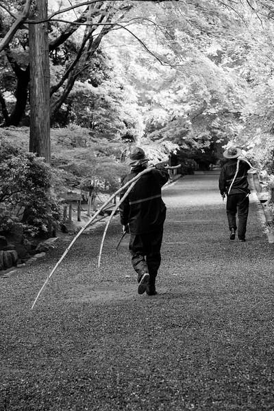 The gardeners at Ryōan-ji