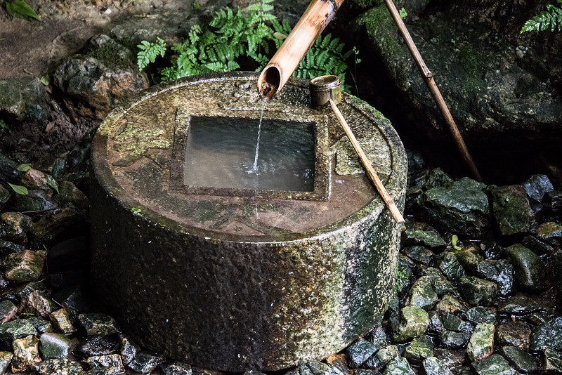 """""""I learn only to be contented"""" - Tsukubai (water basin) at Ryōan-ji Temple"""