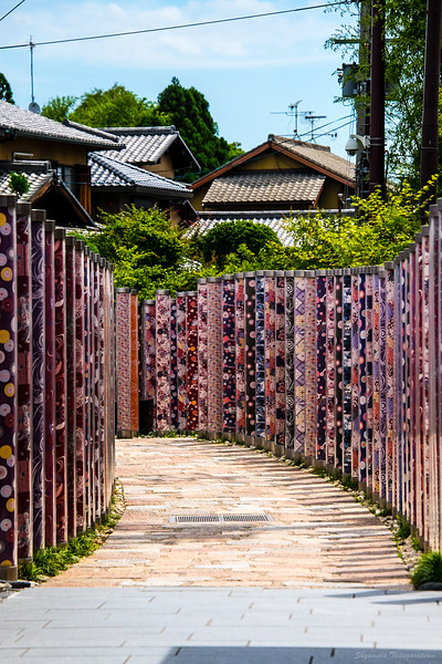 The kimono forest at Arashiyama.