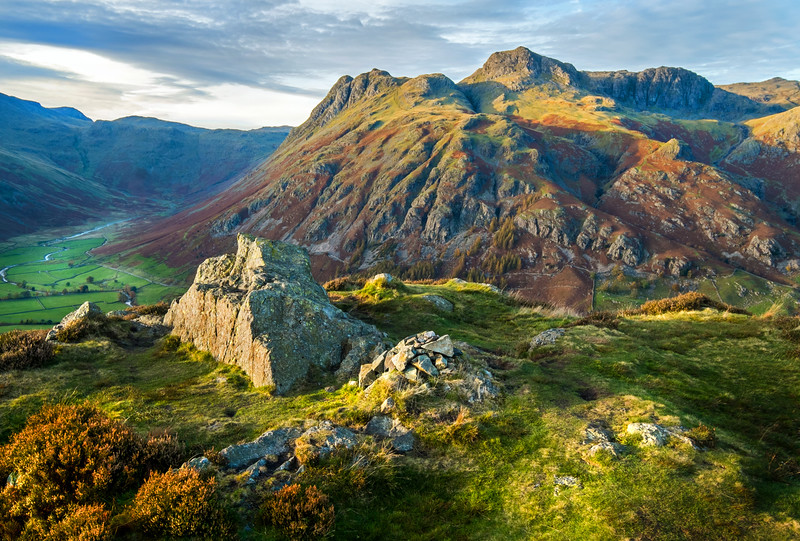 The Langdale Pikes in The Lake District