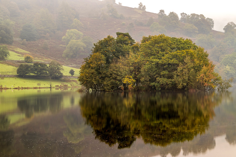 Reflection at Rydal Water Cumbria