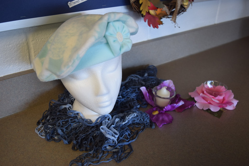 . Hats for cancer patients who have lost their hair is just one of the crafts that have been done at the Lake House.